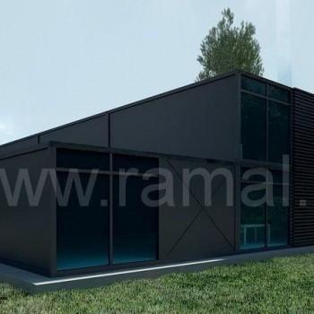 Wizualizacja budynku z płyty wielowarstwowej 236